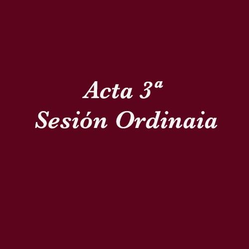 Acta 3ª Sesión Ordinaria