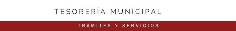 TESORERÍA MUNICIPAL
